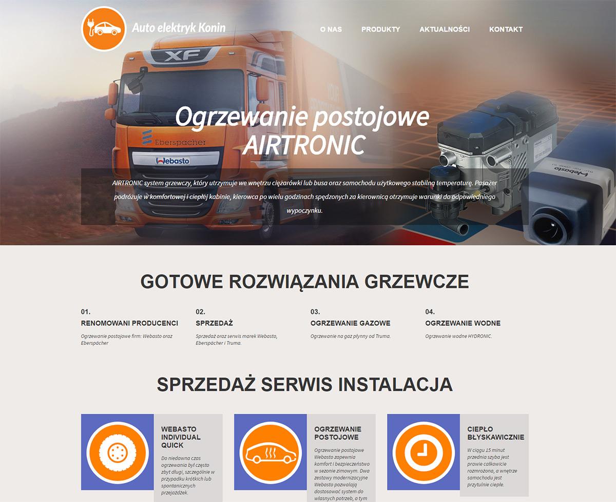Strona internetowa autoelektryk Konin