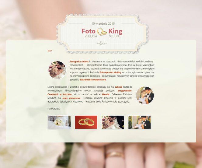 ślubne zdjęcia strona internetowa